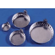 Eagle Thermoplastic Disposable Aluminum Crinkle Dishes with Tabs D43-100
