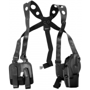 Safariland 1051 ALS Shoulder Holster System - Plain Black, Right Hand 1051-283-61