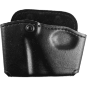 Safariland 573 Concealment Magazine Holder, Paddle, Single w/Cuff Pouch - Plain Black, Right Hand 573-83-21