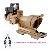 Trijicon ACOG 4x32 ECOS Scope Amber Center Illumination Riflescope w/ FREE Gerber Suspension Multi-Plier 1471