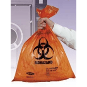 Tufpak Autoclavable Biohazard Bags, 2.0 mil 14220-054 Orange Bags With Indicator