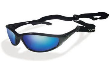 291c46192123 Wiley-X P-23 Rx Prescription Sunglasses Gloss Black with Metallic Orange  Frame