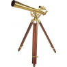 Barska 36x80mm Anchormaster Telescope, Sky & Land Brass Scope w/ Mahogany tripod AE10824
