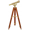 Barska 15-45x50 AnchorMaster Handcrafted Brass Scope w/ Mahogany Floor Tripod AA10616