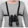 Bulldog Cases Black Adjustable Stretching Binocular Harness w/ Leather Back