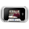 Cannon Security Products Digital Door Viewer with Video and Audio Recorder, Silver DDV-S-R01PS