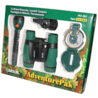 Carson AdventurePak Binocular, Compass, Flashlight, Whistle, Thermometer, Green HU-401