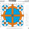 Champion Traps and Targets Re-Stick 16x16in Adhesive Shooting Target