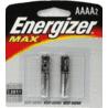 Energizer Max Alkaline AAAA Batteries for Pen Lights E96BP-2
