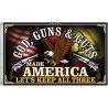 Flags God Guns and Guts Flag