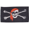 Flags Skull with Red Scarf Flag