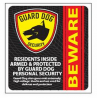 Guard Dog Security Window/Door Sticker