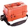 Pelican 1460EMS Black/Orange Watertight Protector Hard Case
