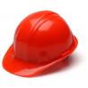 Pyramex Cap Style 4 Point Snap Lock Suspension Hard Hat - Hi Vis Orange HP14041, Pack of 12
