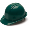 Pyramex Cap Style 6 Point Ratchet Suspension Hard Hat - Green HP16135, Pack of 16
