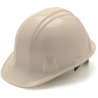 Pyramex Cap Style 6 Point Ratchet Suspension Hard Hat - White, 16 Pack HP16110