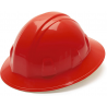 Pyramex Full Brim 4 Point Ratchet Suspension Hard Hat - Red