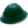 Pyramex Full Brim 6 Point Ratchet Suspension Hard Hat, 12-Pack - Green HP26135