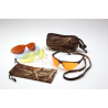 Pyramex Rendezvous Ducks Unlimited Shooting Glasses - Black Frame, Amber, Bronze, Blue & Clear Lenses, Case, Bag, Cords DUCAB