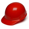 Pyramex Sleek Shell Cap Style 4 Point Ratchet Suspension Hard Hat - Red HPS14120, Pack of 12