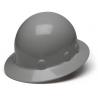 Pyramex Sleek Shell Full Brim 4 Point Ratchet Suspension Hard Hat - Gray HPS24112, Pack of 12