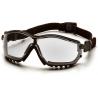 Pyramex V2G Safety Glasses - Clear Anti-Fog Lens, Black Frame GB1810ST 12 Pack