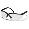 Pyramex Venture II Safety Glasses - Clear Lens, Black Frame