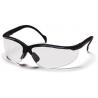 Pyramex Venture II Safety Glasses 12-Pack - Clear Lens, Black Frame SB1810S