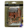 River's Edge Hand-Painted Poly Resin Cabin Light Switch Plate Cover
