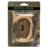 River's Edge Hand-Painted Poly Resin Deer Antler Light Switch Cover