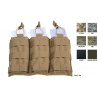 Tactical Assault Gear MOLLE Triple Shingle with Bungee - Tactical Pouches