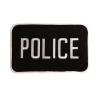 Uncle Mike's Police ID Patch Black/White or Black/Gold, Small or Large