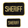 Uncle Mike's Sheriff ID Black/Gold Patch, Small or Large