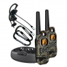 Uniden Weather Resistant 37 Mile Range FRS/GMRS Radios w/VOX Headsets and Carabiners