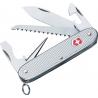 Victorinox Farmer Swiss Army Knife Silver Alox Ribbed