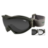 Wiley-X Nerve Tactical Ballistic Goggles w/ Interchangeable Lenses, Case, Strap